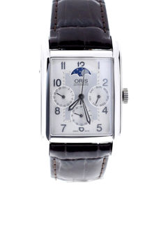 Oris - Rectangular Complication Silver Dial Date,Day,GMT, - 01 582 7694 4061 - Unisex - 2018
