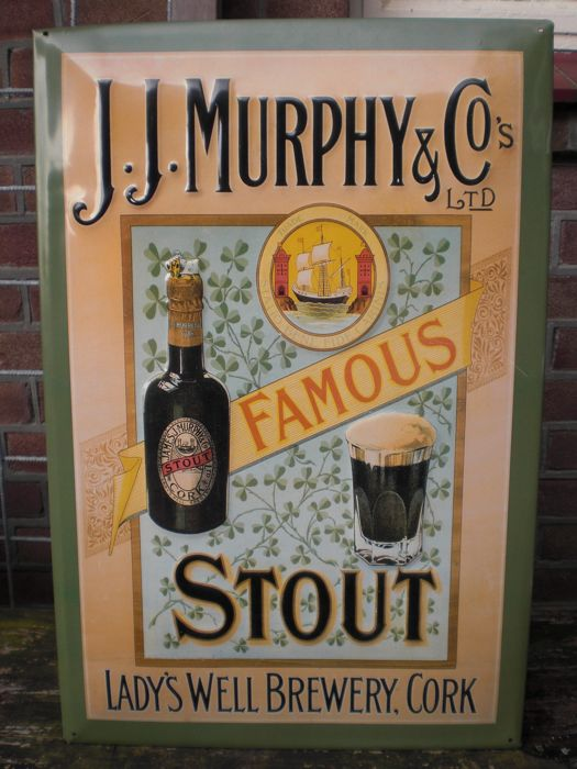 J.MURPHY'S & Co metal advertising sign