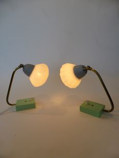 Unknown designer and manufacturer - 2x table lamps 1950s