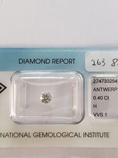 0.40 ct brilliant cut diamond H VVS1
