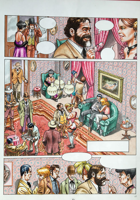 "Luca Tarlazzi - Nuvola Bianca - original page x ""Selen"" - Loose page - First edition"