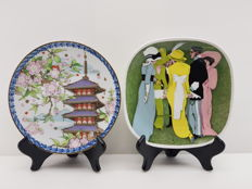 "2 limited edition plates from Richard Ginori and Noritake. ""Dame con Ufficiale"" and ""Spring"""