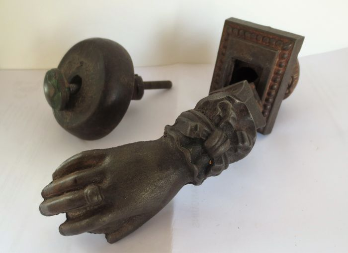 Door knocker in the form of a hand, first half 20th century