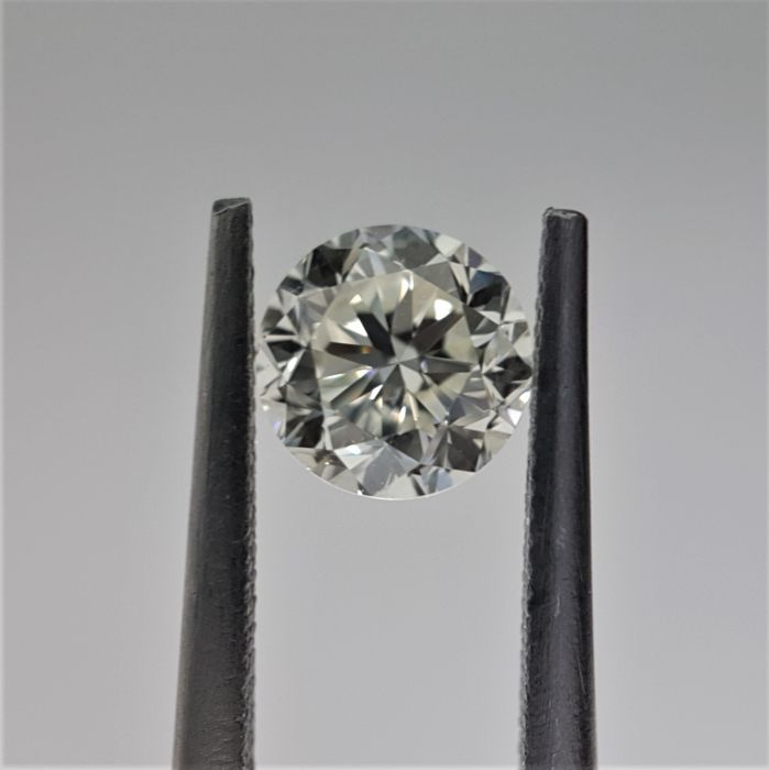 1.00ct Natural Round Brilliant Cut Diamond K VS1
