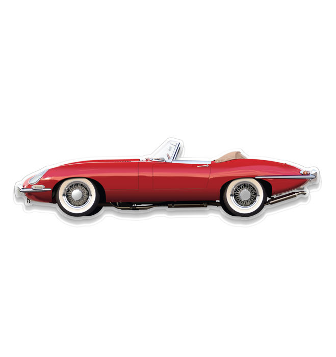 SL - Wall Scale Model Halmo Collection Jaguar E Cabriolet