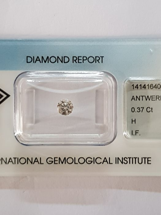 0.37 ct brilliant cut diamond H I F