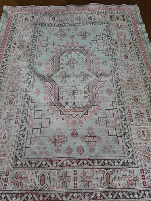 Cotton antique (wall/divan) finely woven rug, 1st half 20th century