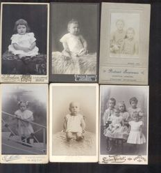 Portrait photos - CDV - children/babies - 24 x - 1870/1920