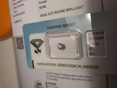 0.40 ct   D  SI 1  EX VG EX ideal cut round brilliant