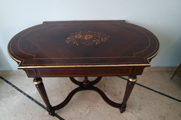 Writing table in Louis XVI style - France - late 19th century