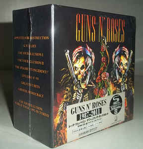 "Guns' N' Roses ""1987-2011"" 9 CD + 2 DVD Japon Edition Box Set"