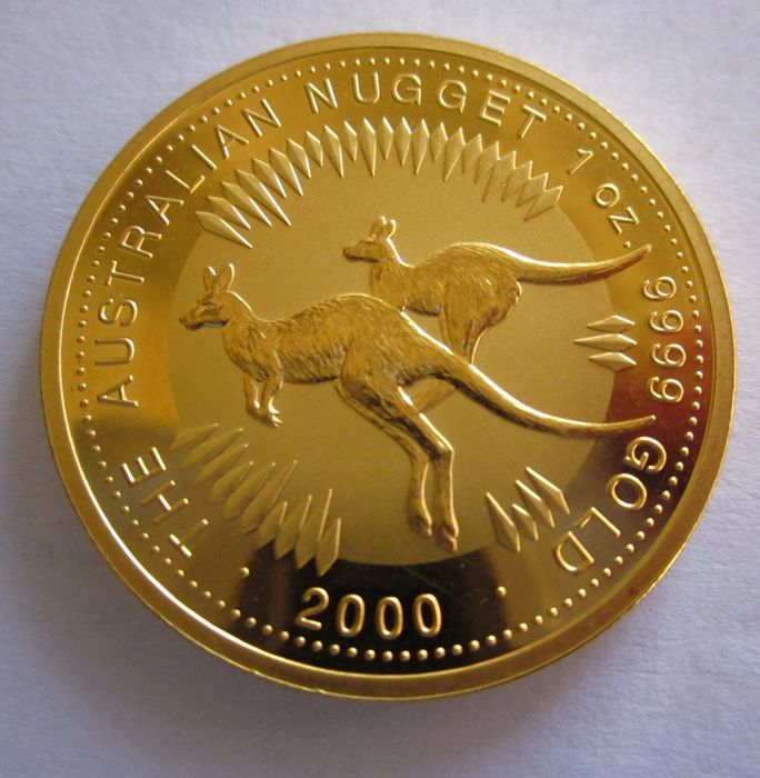 Australia - 100 Dollars 2000 'Two Kangaroos' - 1 oz gold