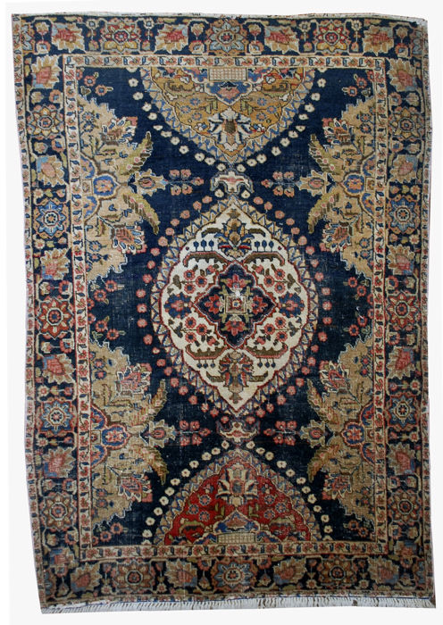 Hand made antique Persian Malayer rug 4' x 6' ( 122cm x 183cm ) 1920s