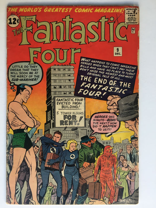 Marvel Comics - The Fantastic Four #9 - 3rd Submariner appearance - 1x sc - (1962)