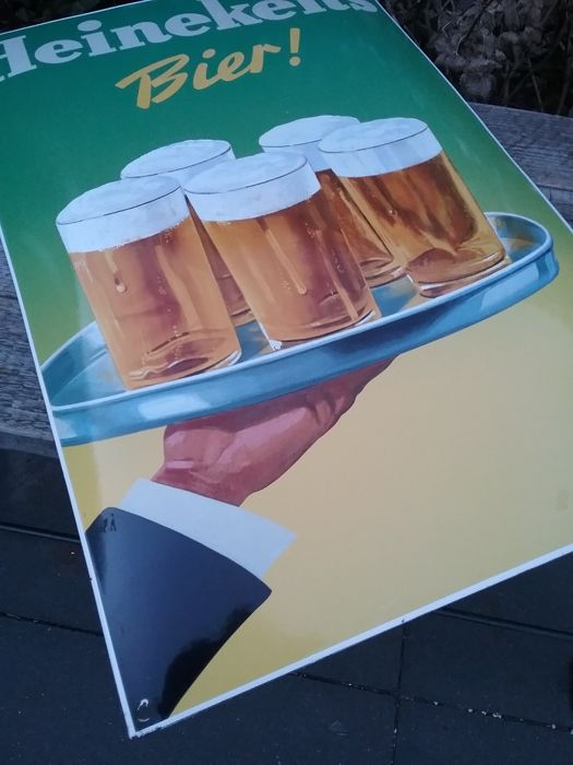 Enamel advertising sign Heineken
