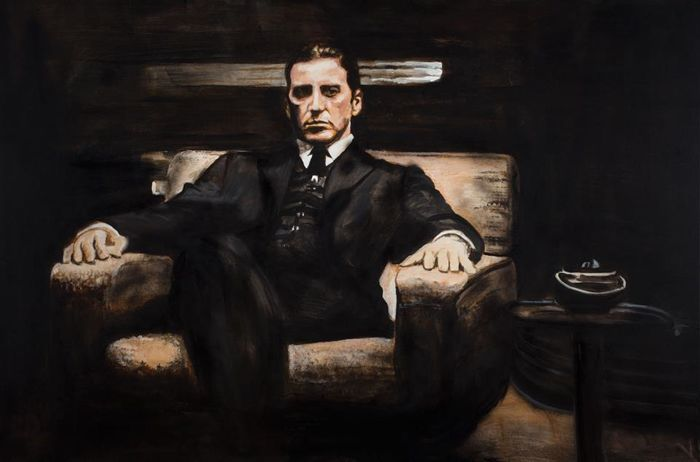 Al Pacino (godfather) - reproduction of painting by Stephan Evenblij.