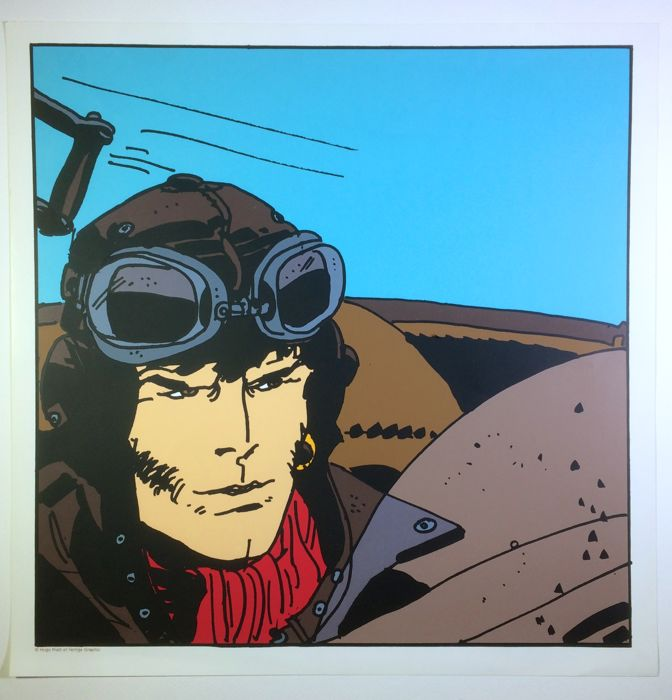 "Pratt, Hugo - 2x graphics ""Corto Maltese pilota"" and ""Shanghai Lil"""