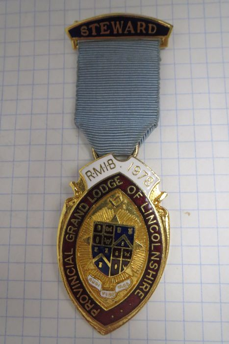 "Masonic insignia ""Provincial Grand Lodge of Lincolnshire"" 1978"