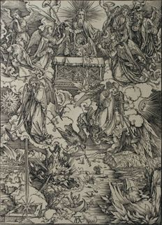 "Albrecht Dürer (1471 - 1528)  - ""Apokalypse"" created around 1498 - printed XVIII"