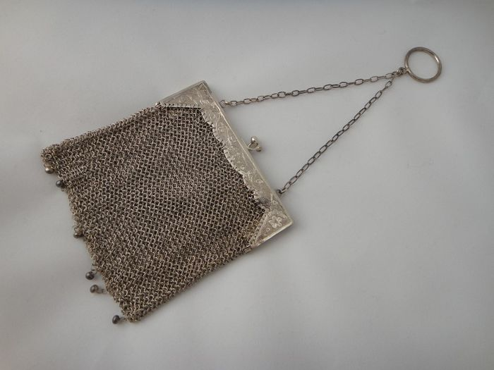 Antique Chinese silver wallet or bag - China - 20th century