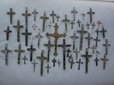 50 religious crosses from 19th and 20th century Roman Catholic