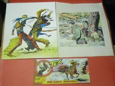 3 colour proofs for Tex strip, Capitan Miki and Pecos Bill