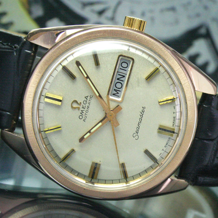 Omega - Seamaster Automatic Day Date Gold Cap Steel - 166032 - Mænd - 1960-1969