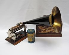Graphophone, Columbia model Q, phonograph - USA - circa 1900