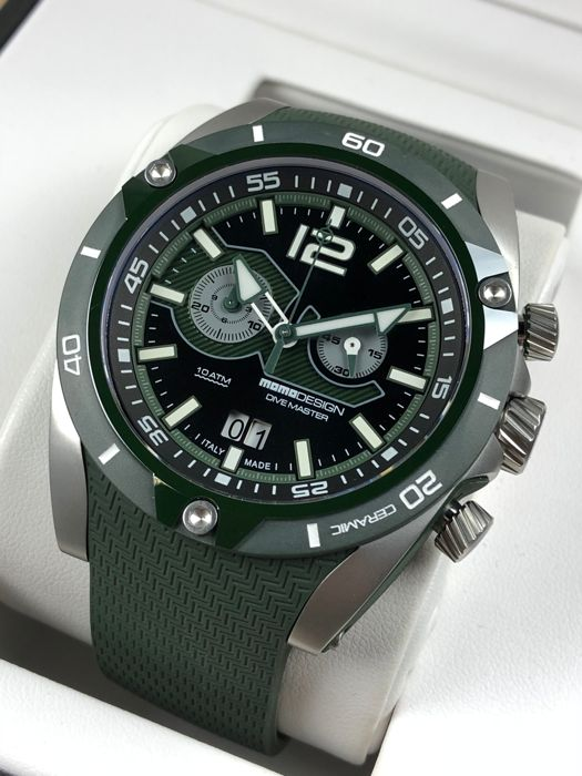 "MomoDesign - Diver Master City Chronograph - ""NO RESERVE PRICE""  - MD282MG-11 - Homem - 2011-presente"