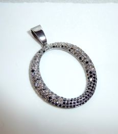 Pendant made of 18 kt / 750 white gold with 210 brilliant-cut diamonds, approx. 2.1 ct