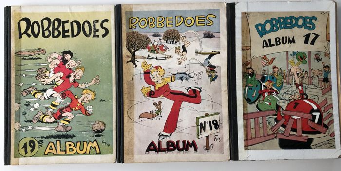 Robbedoes (tijdschrift) - Album nr 19-18-17 - hc - 8° jaargang - nrs 298 t/m 352 - (1946)