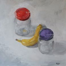 Adam Woynar (Wojnar)  - Banana and glass jars