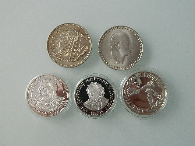 World – Lot of 5 silver coins – silver