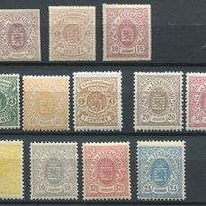 """Luxemburg 1859/80 -  Selection of stamps """"Coat of arms"""""""