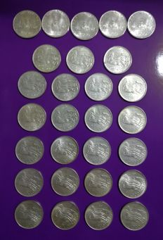 Republic of Italy - 500 Lire (28 coins) - silver