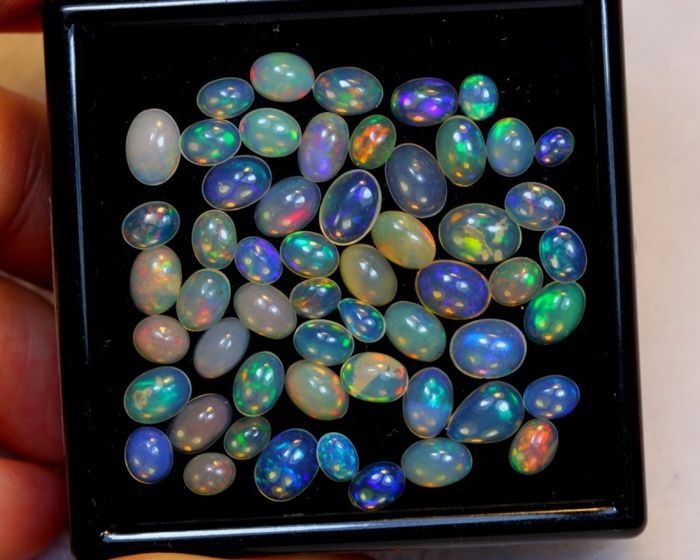 Lot multicolor Natural Solid Opal - 13.68 ct