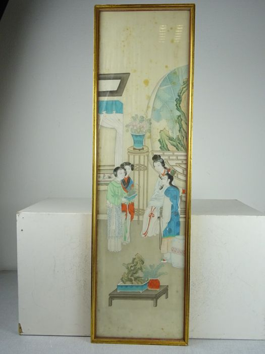 Fine painting on silk - China - Republic period (1912-1949)