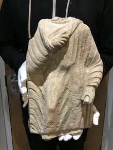Large Ancient Gandhara Statue/Torso of Buddha  - 390x260mm