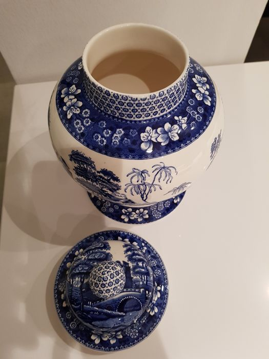 Vase With Lid Spode Blue Tower Catawiki