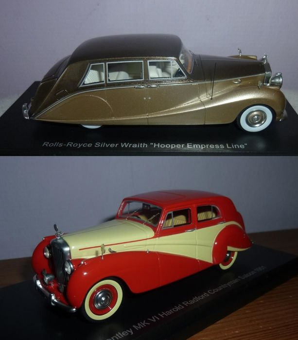 BOS - Scale 1/43 - Rolls Royce Silver Wraith Hooper and Bentley MKVI Harold Radford