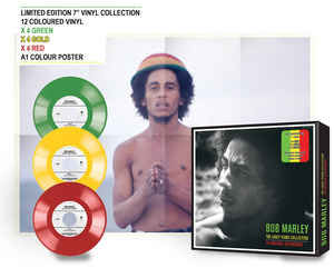 Bob Marley early years singel box set with 12 exclusive coloured 7 singels.