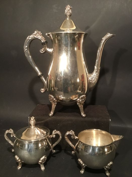Silver plated coffee set Leonard silver plated - Catawiki