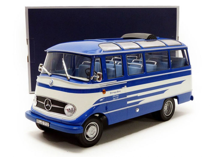 "Norev - Scale 1/18 - Mercedes-Benz o319 ""Sturmvogel reisen"" 1960 - Blue/White"