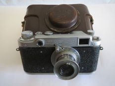 "The very first ""FED-2"". With the inscription factory FEDZHERZHINSKOGO.№037134.Prototype of ""Leica II"". (Rarity)"