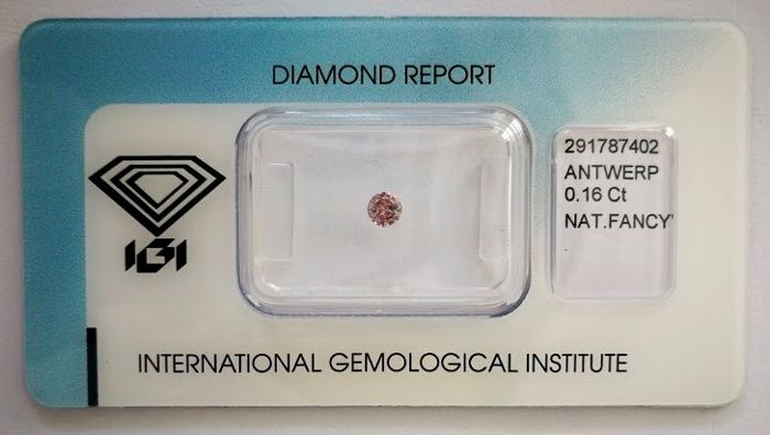 Natural Fancy Pink Diamond 0.16 ct  with IGI cert  ***No minimum price***