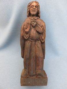 Carved wooden Christ figurine - western Europe - 18th/19th century