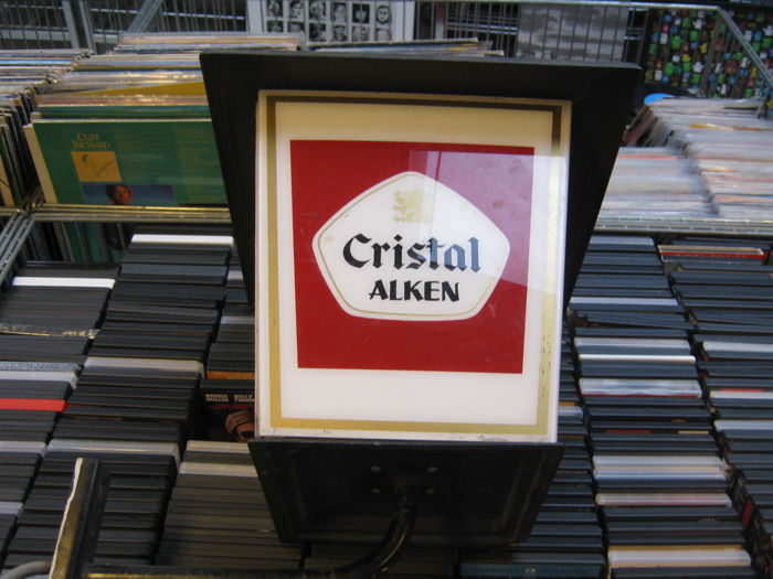 Very nice quality lantern of Cristal Alken (beer from Belgium)