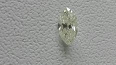 GIA certified very beautiful, colour J, clarity VS1 diamond weighing 0.39 ct.
