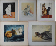 Jacques Nam (1881-1974) - Les chats