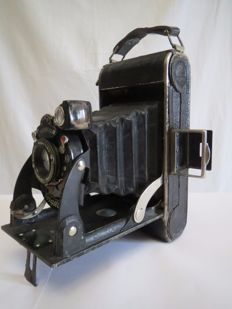 "The rare, disappearing very first camera of the company Voigtlander-Braunschweig ""BESSA"" 1929-1930 For the domestic market of Germany. №D21314. The lens Anastigmat Voigtar 1 / 6,3  F = 105mm"